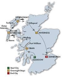 Road Map Of Scotland Trips To Scotland Scotland Escorted Tours Cie Tours