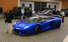 Blue Lamborghini Aventador - lamborghini aventador blue matte as a shopping cart in dubai youtube