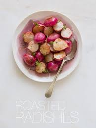 roasted radishes side dish recipe spoon for bacon