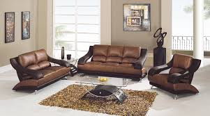 Modern Leather Couch Set 1798 00 3 Pc Tan U0026 Brown Leather Sofa Set Sofa Loveseat And