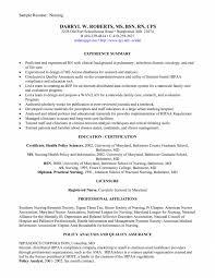 Health Informatics Resume Cover Letter New Graduate Nurse Resume Sample New Graduate Nurse