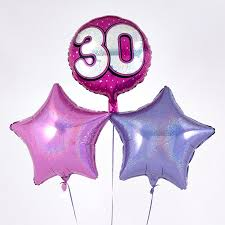 30th birthday balloon bouquets pink 30th birthday balloon bouquet inflated free delivery