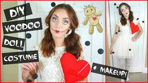 diy voodoo doll halloween costume makeup collab with katie