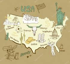 Map Of Usa Regions by Stylized Map Of America U2014 Stock Vector Alisafoytik 10377634