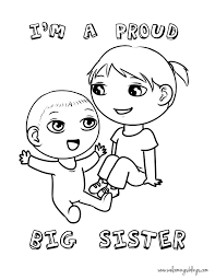 sister coloring pages getcoloringpages com