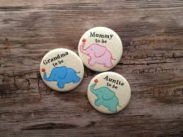 2 25 inch elephant theme baby shower button mom to be pin