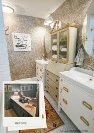 bathroom storage a makeover story bella tucker decorative finishes