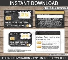 Cards Invitations Free Printable Glamorous Credit Card Party Invitations 82 On Free Printable