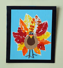 project thanksgiving that artist woman leaf print turkeys and squirrels