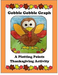 thanksgiving coordinates or plotting points activity turkey by