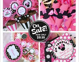 minnie mouse party supplies minnie mouse party etsy