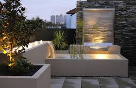 modern water feature outdoor furniture decorating ideas sculptural water features