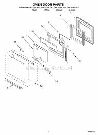 Replacement Oven Door Glass by Whirlpool Gmc305pds07 Parts List And Diagram Ereplacementparts Com
