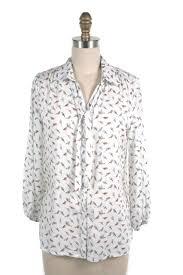 bird blouse bird tie blouse in white frock shop