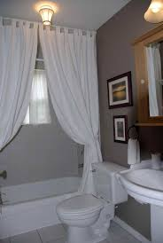 small guest bathroom decorating ideas astounding white fabric tub curtain added portray over toilet and