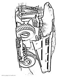 caterpillar 797f coloring page