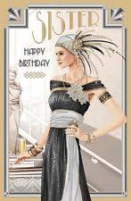 large art deco birthday card ebay