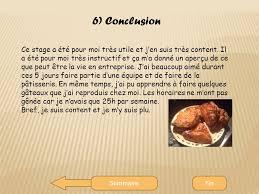 rapport de stage 3eme cuisine boulangerie pâtisserie bisson ppt télécharger