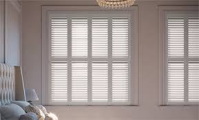 Wooden Plantation Blinds Shutter Blinds Stylish Waterproof Made To Measure Plantation