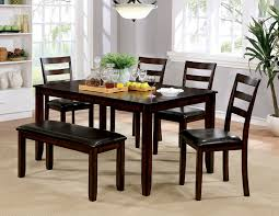 gloria dining set by furniture of america cm3331t 6pk a bedder