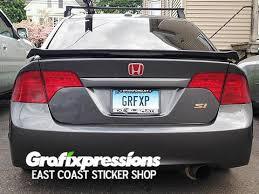 honda civic spoiler brake light spoiler brake light overlay for 8thgen civic sedan coupe 2006 2011