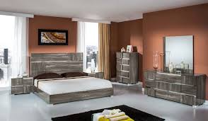Grey Furniture Bedroom Rustic Grey Wooden Bed With Headboard Next To Bedside Table Added