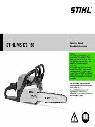 stihl chainsaw stihl ms 170 pdf
