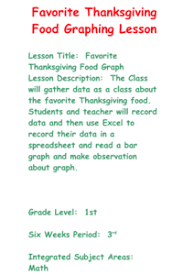 thanksgiving math graph lesson plans worksheets