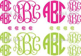 monogram stickers 1 sheet min of 5 monograms of custom vinyl monogram stickers