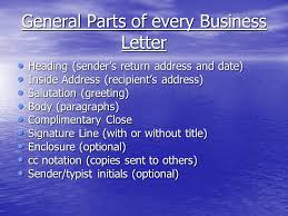 Business Letter Format Cc Before Enclosure Letter Writing Ppt Video Online Download