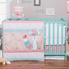 Pink And Teal Crib Bedding Trend Lab Forever Trend Lab 3 Crib Bedding Set