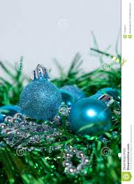 blue and green christmas decorations stock image image 17240911