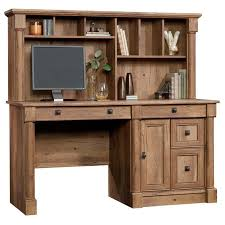 Oak Bookcases With Drawers Sauder Palladia Computer Desk With Hutch In Vintage Oak 420713