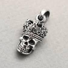 skull pendant necklace images 925 sterling silver king skull pendant callvogue jpg