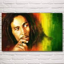 bob marley retro nostalgic old reggae rock music art silk poster
