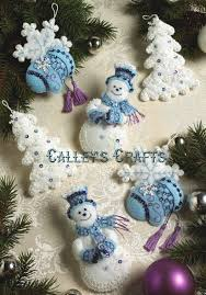 snowflake snowman 6 bucilla felt ornament kit 86094 fth