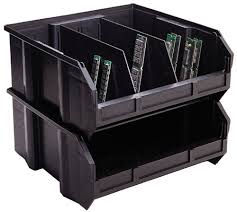 Plastic Storage Containers Dividers - divider for conductive esd plastic storage bins dusco bin