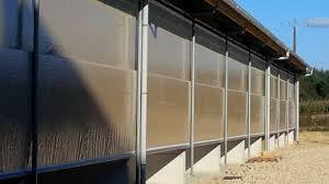 brise vent transparent porte à enroulement wst11