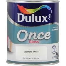 dulux once one coat gloss jasmine white 750ml paint pinterest