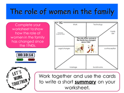 aqa gcse sociology changing role of women in the family by