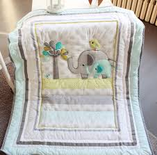 Nursery Bedding Sets For Boys by 8 Pieces Baby Bedding Set Embroidery 3d Elephant Bird Baby Crib