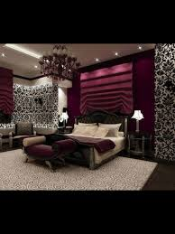Purple And Green Home Decor by Love This Such A Romantic Bedroom With Black And White Wallpaper