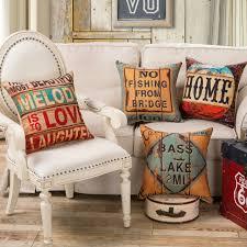 canap vintage en gros 4 couleurs décoratif vintage housses de coussin pour canapé