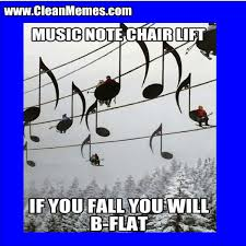Funny Music Memes - music note chairlift clean memes