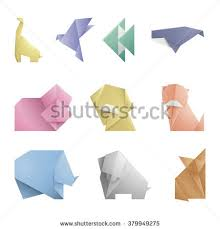 Origami Pets - collection 10 simple origami symbolicon animalsorigami stock