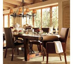 classic dining room with luxurious furniture sets and chandelier