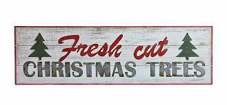 48 fresh cut trees wood and metal wall decor sign walnut