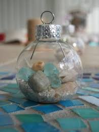glue shells on a styrofoam or plastic ornament overlap