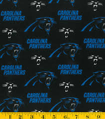 carolina panthers cotton fabric 58