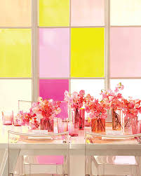 pair sheer citrus and pink for a wedding color scheme that makes a
